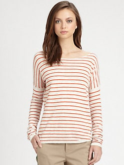 Vince - Striped Slub Linen Shirt