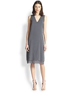 Vince - Trimmed V-Neck Dress