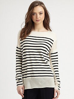 Vince - Striped Cashmere Sweater
