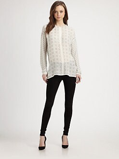 Vince - Printed Silk Blouse