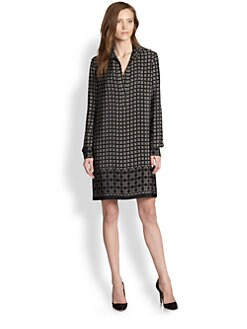 Vince - Silk Print Shirtdress
