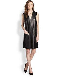Vince - Leather Shift Dress