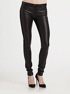 Vince - Mixed Media Leather Jeans