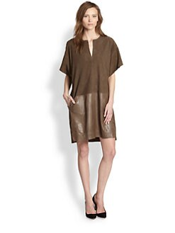 Vince - Suede & Leather Dress