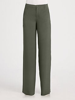 Vince - Silk Wide-Leg Dress Pants