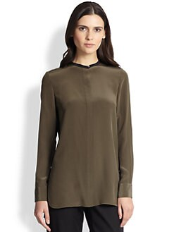 Vince - Silk Two-Tone Blouse