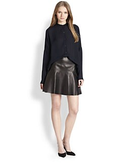 Vince - Drape-Hem Silk Blouse