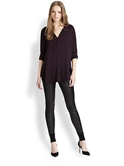 Vince - Trapunto Stretch-Silk Blouse