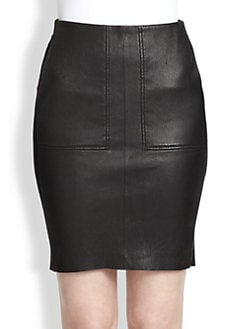 Vince - Stretch-Leather Pencil Skirt
