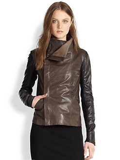 Vince - Colorblock Leather Jacket