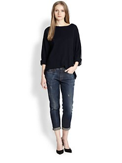Vince - Two-Tone Cashmere Boatneck Sweater