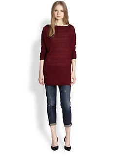 Vince - Semi-Sheer Tunic Sweater