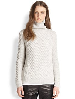Vince - Cable-Knit Turtleneck Sweater