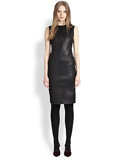 Vince - Stretch-Leather Pencil Dress