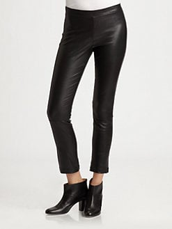 Vince - Cropped Leather Leggings