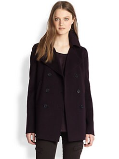 Vince - Double-Breasted Wool-Blend Peacoat
