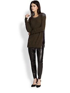 Vince - Wool & Cashmere Side-Zip Colorblock Sweater