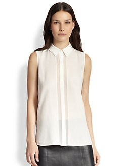 Vince - Silk Sleeveless Shirt