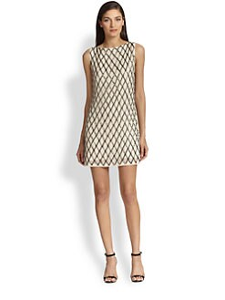 Alice + Olivia - Dalyla Beaded Silk Dress