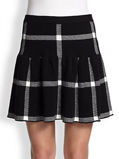 Alice + Olivia - Kimbra Plaid Yoke Skirt