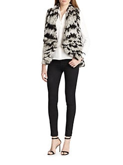 Alice + Olivia - India Fur Cascade Vest