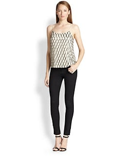 Alice + Olivia - Moran Beaded Silk Camisole Top