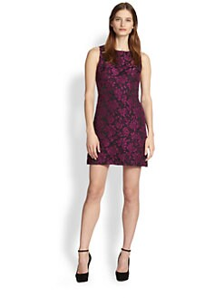 Alice + Olivia - Eli Cutout-Back Floral Dress
