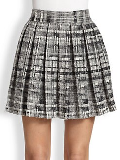 Alice + Olivia - Kayla Box-Pleated Skirt
