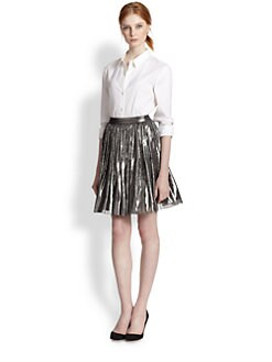 Alice + Olivia - Lizzie Metallic Full Skirt