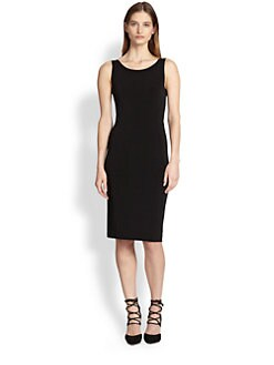 Alice + Olivia - Leather-Trim Sheath Dress