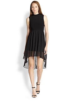 Alice + Olivia - Mockneck Hi-Lo Dress