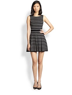Alice + Olivia - Monah Pinstripe Sweater Dress