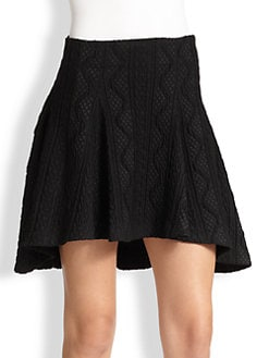 Alice + Olivia - Abstract-Patterned Jacquard Skirt