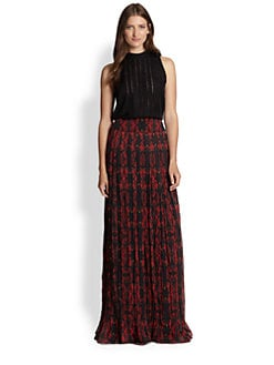 Alice + Olivia - Caprice Pleated Maxi Skirt