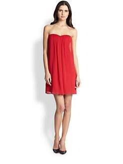 Alice + Olivia - Jazz Center Draped Strapless Dress