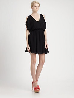 Alice + Olivia - Zarrah Open-Shoulder Dress
