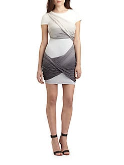 Alice + Olivia - Tobe Drape Mini-Dress