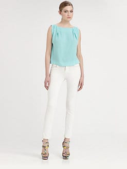 Alice + Olivia - Gladys Silk Top