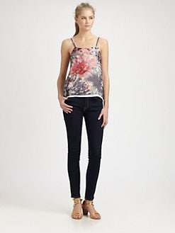 Alice + Olivia - Washed Silk Tank Top