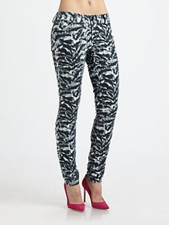 Alice + Olivia - Animal-Print Skinny Jeans