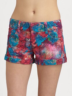 Alice + Olivia - Five-Pocket Cady Cuff Shorts