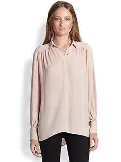 Alice + Olivia - Janet Hi-Lo Flared Tunic Top