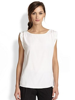 Alice + Olivia - Rolled-Sleeve Tunic Top