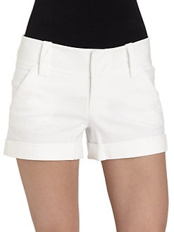 Alice + Olivia - Cuffed Mini Shorts