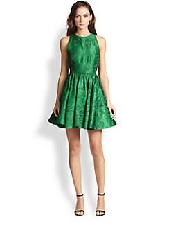 Alice + Olivia - Tevin Satin Brocade Dress
