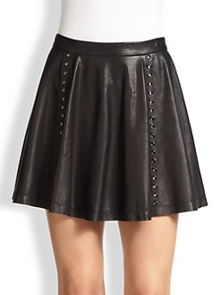 Alice + Olivia - Akira Leather Mini Skirt