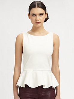 Alice + Olivia - Ponte Knit Peplum Top