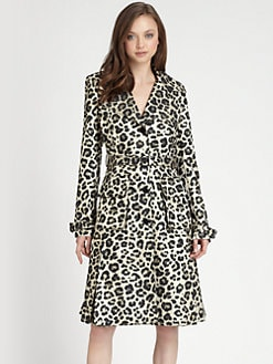 Alice + Olivia - Charla Animal-Print Trenchcoat