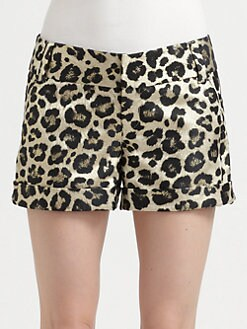 Alice + Olivia - Leopard Cady Cuff Short