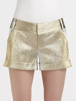 Alice + Olivia - Metallic Cady Cuff Short